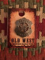 Colorado Silver Star Old West Badge: Deputy U.S. Marshal Shield Mini Pin