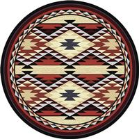 American Dakota Rug: Voices Collection Diamond Rio 8' Round Drop Ship