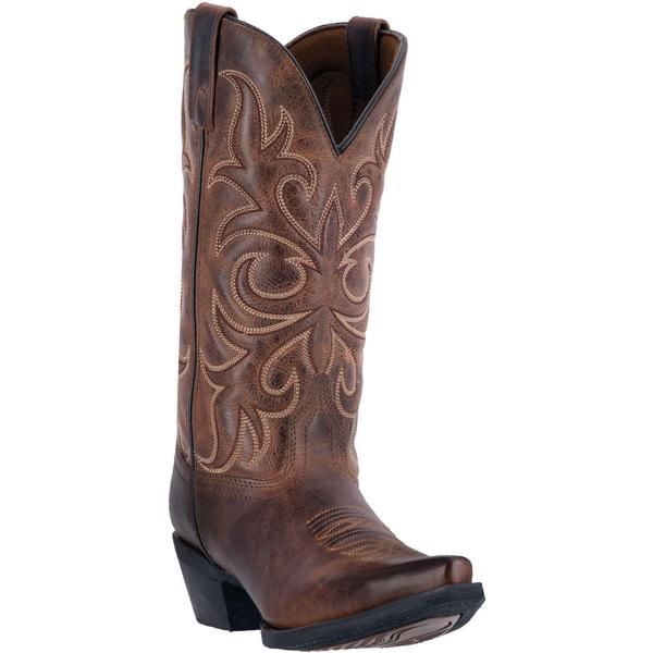 Ladies' Dan Post Boots Western Laredo Fashion: A Diana Rust Leather Snip Toe M 6-10