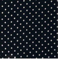 Cowboy Images Accessory: Scarf Charmeuse Dots White on Black