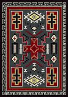 American Dakota Rug: Voices Collection Double Cross Red & Gray 5x8 Drop Ship