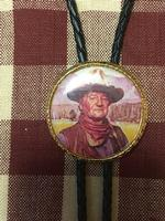 Rockmount Ranch Wear Accessory: Bolo Tie John Wayne The Duke on Black Cord Backordered