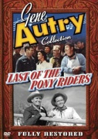 ZSold DVD Singing Cowboy Gene Autry: Last of the Pony Riders SOLD