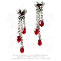 Alchemy Earring Gothic: Bleeding Heart