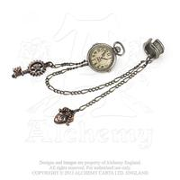Alchemy Earring Steampunk: Uncle Albert's Timepiece Ear Cuff