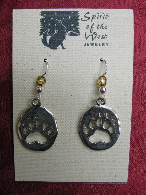 Spirit of the West Earring: Bear Paw