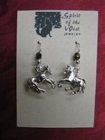 Spirit of the West Earring: Galloping Horses