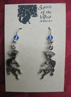 Spirit of the West Earring: Kokopelli Medium