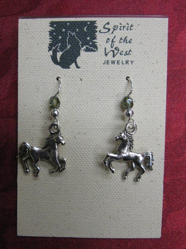 Spirit of the West Earring: Running Horses