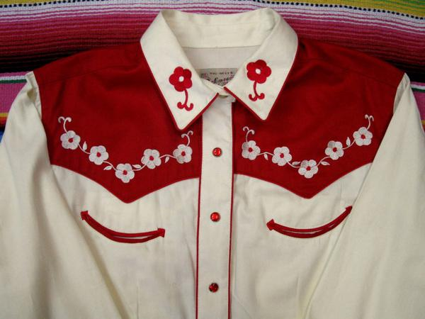 Rockmount Ranch Wear Ladies Vintage Western Shirt Fancy