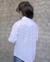 A Rockmount Ranch Wear Children's Western Shirt: Eyelet White