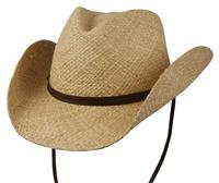 Conner Handmade Hats Cowboy Western Style Raffia: Original Shapeable Natural S/M, L/XL