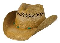 Conner Handmade Hats Cowboy Western Style Raffia: Stormy Turquoise Colored Beads Tea S/M, L/XL