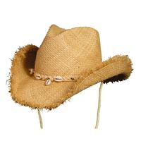 ZSold Conner Handmade Hats Cowboy Western Style Raffia: San Juan Natural One Size SOLD
