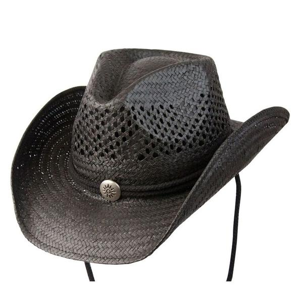 Conner Handmade Hats Cowboy Western Style: Toyo with Vented Crown Black Backordered