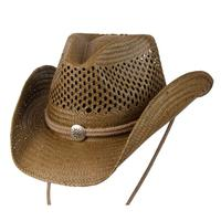 Conner Handmade Hats Cowboy Western Style: Toyo with Vented Crown Brown