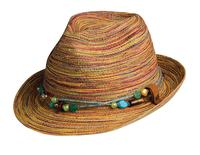 Conner Handmade Hats Fedora: Polyester Braided Spain Removable Necklace Hat Band Multi