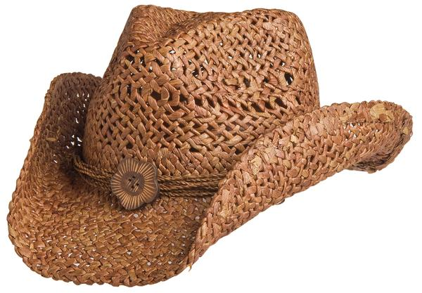 Conner Handmade Hats Cowboy Western Style Maize: San Diego Hatband of Cord and Button Clay