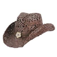 Conner Handmade Hats Cowboy Western Style Maize: San Diego Hatband of Cord and Button Dark Brown