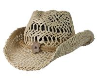 Conner Handmade Hats Cowboy Western Style Maize: San Deigo Hatband of Cord and Button Natural