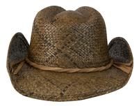 Conner Handmade Hats Cowboy Western Style Raffia: Hatband of Leather with Metal Star Natural