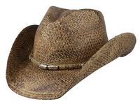 Conner Handmade Hats Cowboy Western Style Raffia: Rope and Silver Colored Beads S/M, L/XL