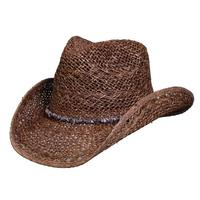 ZSold Conner Handmade Hats Cowboy Western Style: Toyo Rodeo Beach with Stone Hatband Brown One Size SOLD