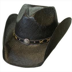 Conner Handmade Hats Cowboy Western Style Toyo: Hat Band of Concho and Xs Black Backordered