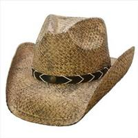 Conner Handmade Hats Cowboy Western Style Raffia: Smokey Ridge Hat Band Faux Leather w Conchos Coffee S/M, L/XL