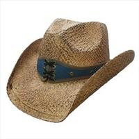 Conner Handmade Hats Cowboy Western Style Raffia: Hat Band Corset Denim Coffee Easy Going SALE