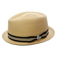 Conner Handmade Hats Fedora: Toyo Straw Manchester Natural
