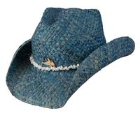 Connor Handmade Hats Cowboy Style Maize: Kids Ocean Accent Blue One Size