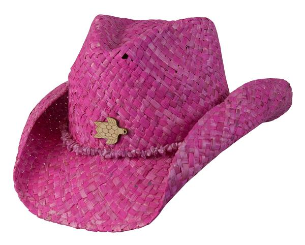 Conner Handmade Hats Cowboy Western Style Maize: Kids Ocean Accent Fuschia Pink One Size