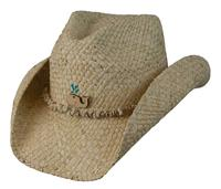 Conner Handmade Hats Cowboy Western Style Maize: Kids Ocean Accent Natural One Size