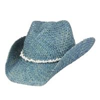 Conner Handmade Hats Cowboy Western Style Maize: Bronco Beach Blue One Size