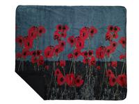 Denali® Your Home Collection: Field of Poppies Reverse Black Throw Blanket Backordered