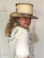 A Patricia Wolf Hat: Turquoise Serape Firewater SALE
