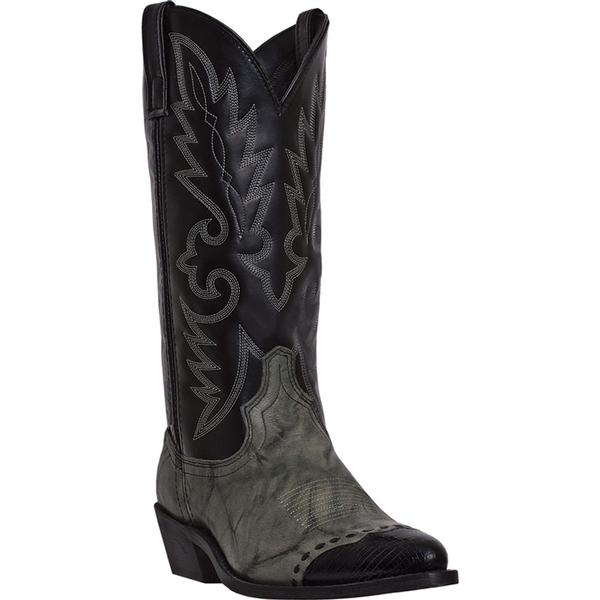 Men's Dan Post Boots Laredo Western: Flagstaff Grey Black