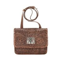 American West Handbag A Grand Prairie Collection: Cross Body Flap Dusty Rose