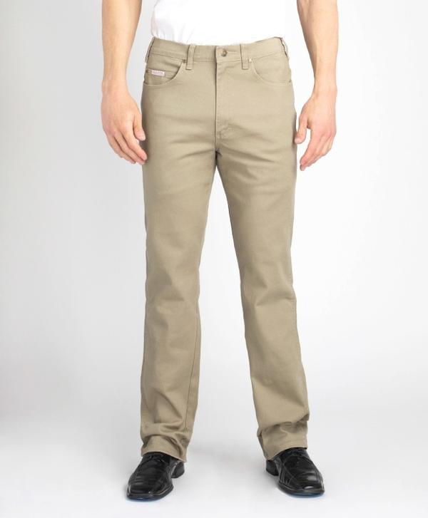 Grand River Clothing Jeans: Regular Size Denim Stretch Traditional Straight Cut Khaki 32-42