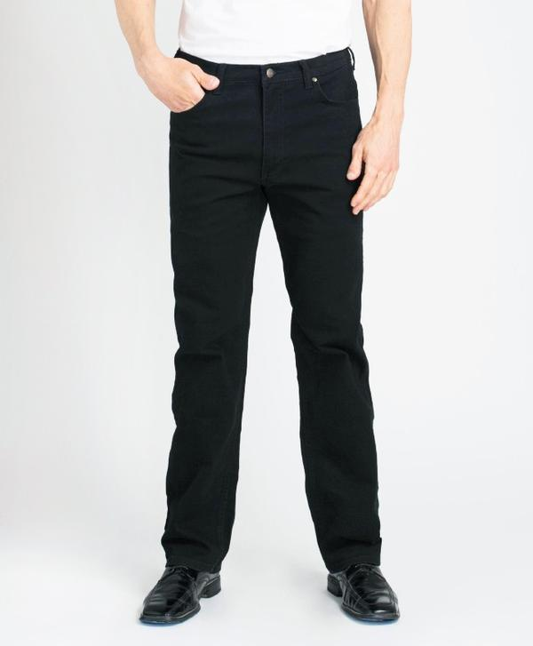 Grand River Clothing Jeans: Regular Size Denim Stretch Traditional Straight Cut Black 32-42