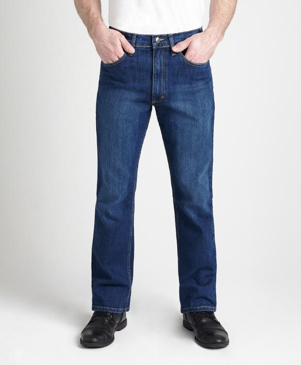 Grand River Clothing Jeans: Regular Size Denim Stretch Traditional Straight Cut Ring Spun Dark Blue 32-42