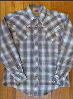 Rockmount Ranch Wear Men's Vintage Western Shirt: Shadow Plaid Grey S-XL