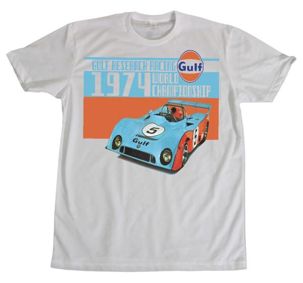 M&P speed Shop Men's T-Shirt: Gulf Research Racing 1974 White XS-4XL