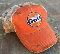 M&P Speed Shop Men's T-Shirt: Gulf Cap Vintage Orange