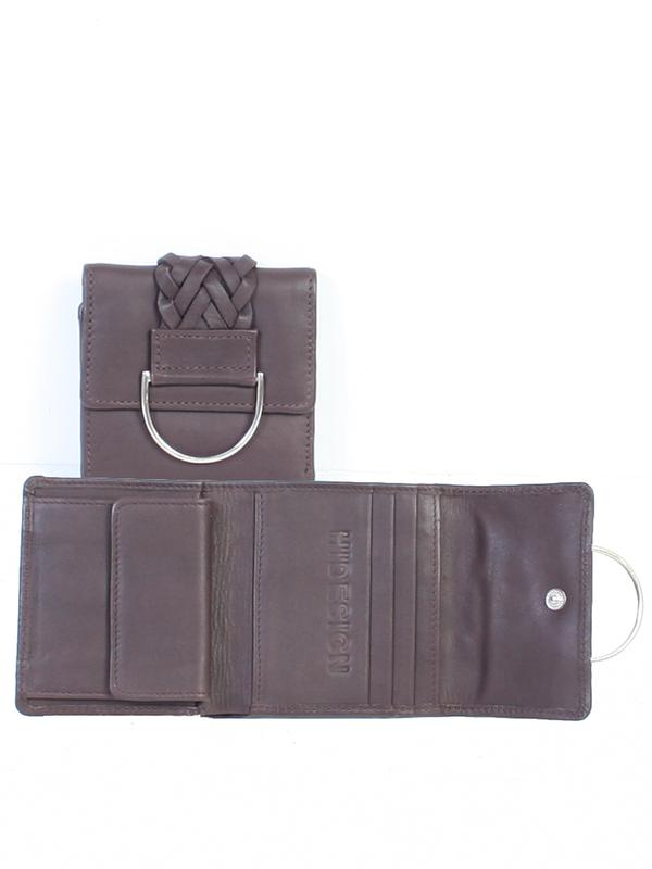 Scully Leather Accessory: Tri-Fold Wallet Leather Rich Chocolate