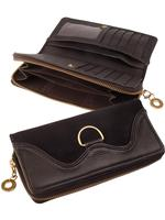 Scully Leather Accessory: Clutch Wallet Suede and Leather Black