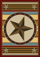 American Dakota Rug: Texas Collection Hacienda Star 4x5 Drop Ship