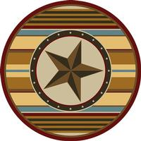 American Dakota Rug: Texas Collection Hacienda Star 8' Round Drop Ship