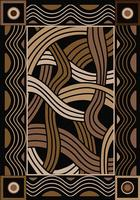American Dakota Rug: Voices & New Enchota Collection Hand Coiled Black 4x5 Drop Ship